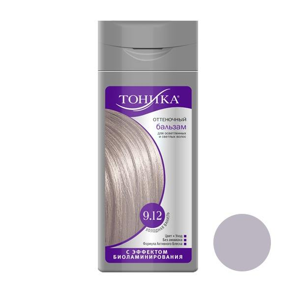 شامپو رنگ مو تونیکا شماره 9.12 حجم 150 میلی لیتر رنگ وانیلی سرد