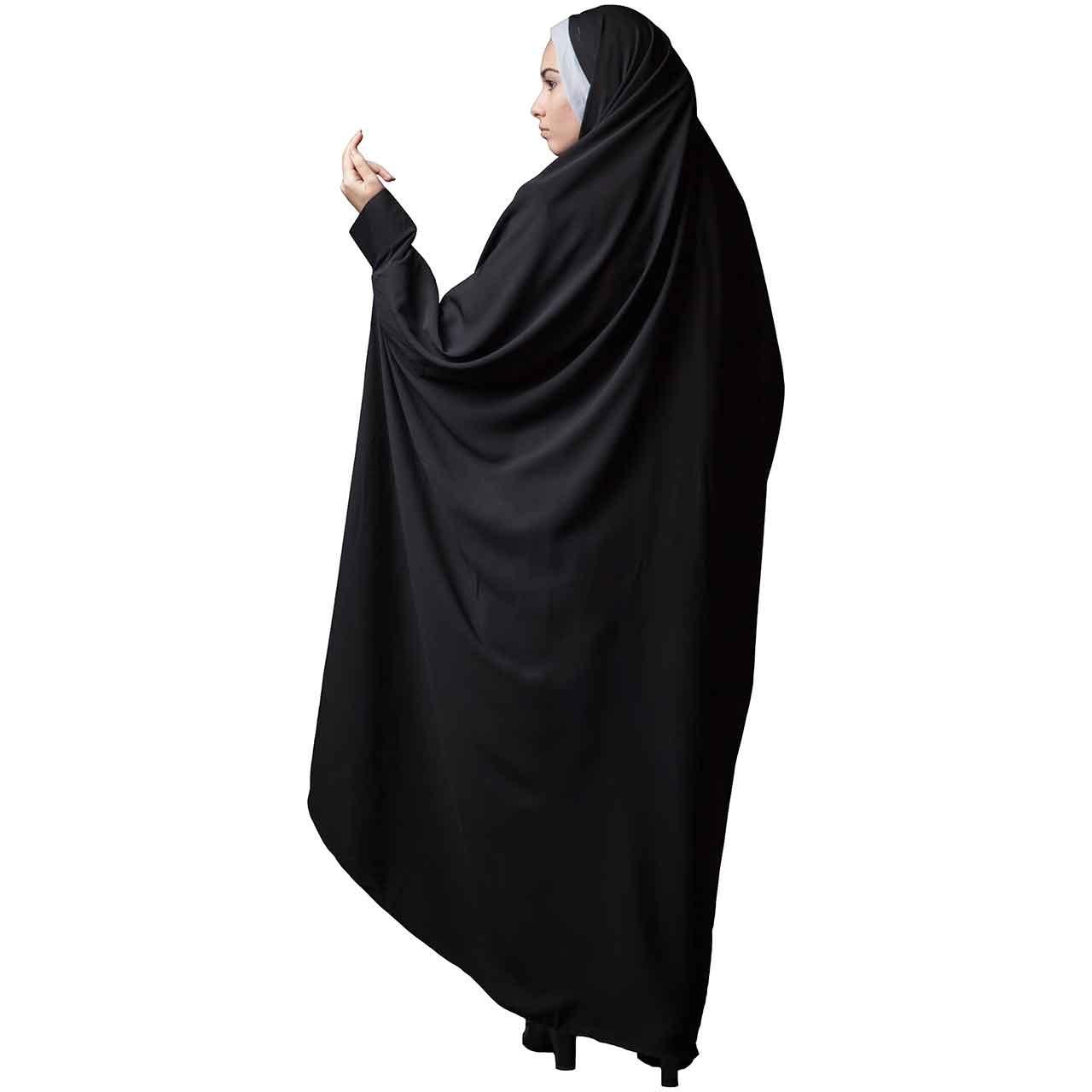 چادر دانشجویی مچدار حریراسود حجاب فاطمی مدل 201021