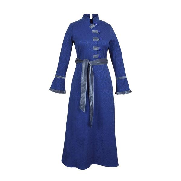 مانتو زنانه عاطفه نادری کد ZHB01 رنگ آبی