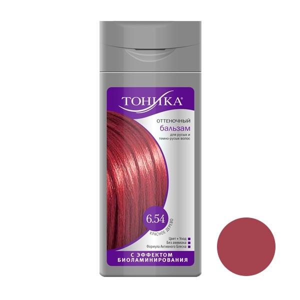 شامپو رنگ مو تونیکا شماره 6.54 حجم 150 میلی لیتر رنگ ماهاگونی