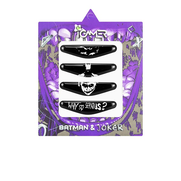 بررسی و {خرید با تخفیف} برچسب لایت بار دسته پلی استیشن ۴ آی گیمر طرح Batman and Joker بسته 4 عددی اصل