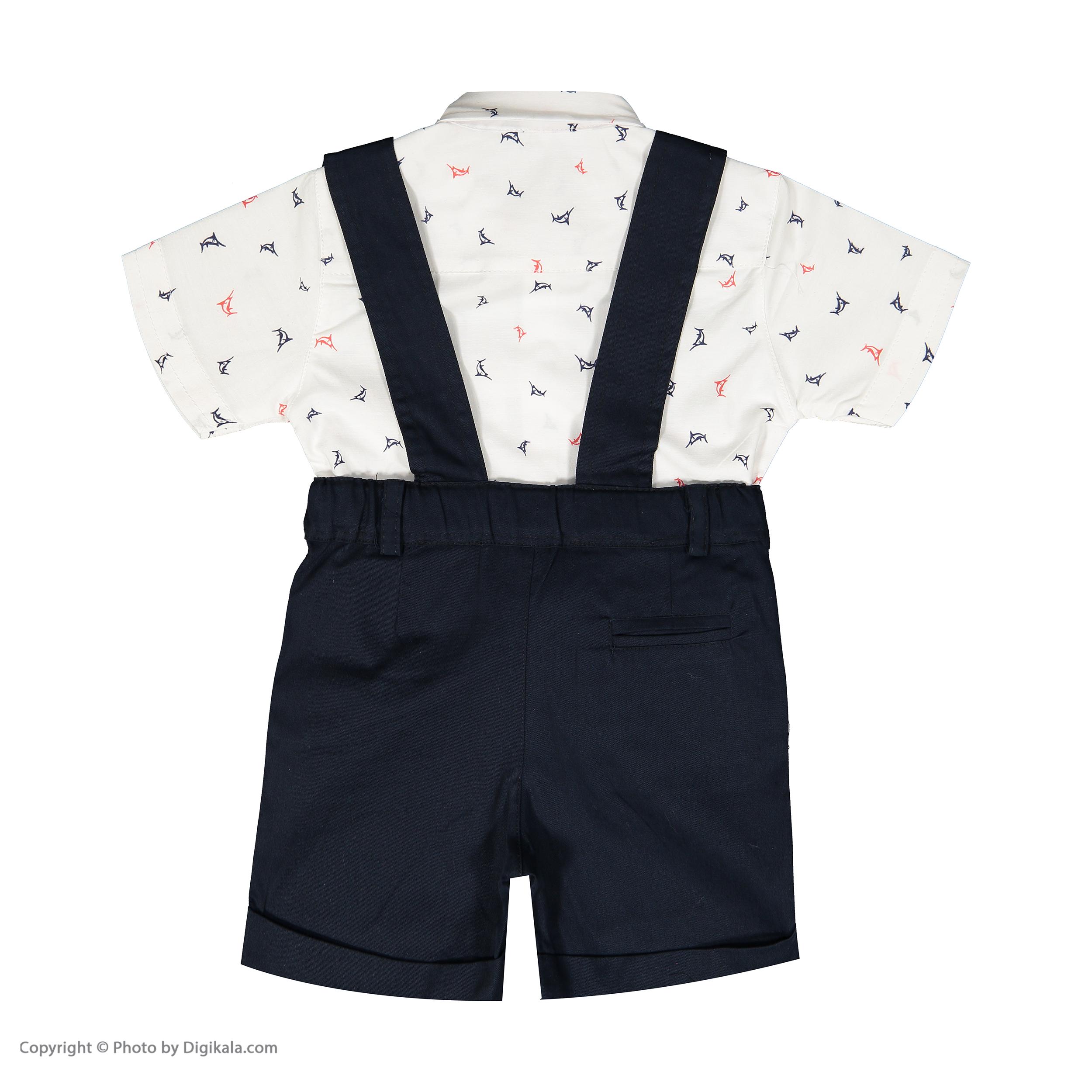 ست پیراهن و شلوارک نوزادی پسرانه فیورلا مدل 2091134-59