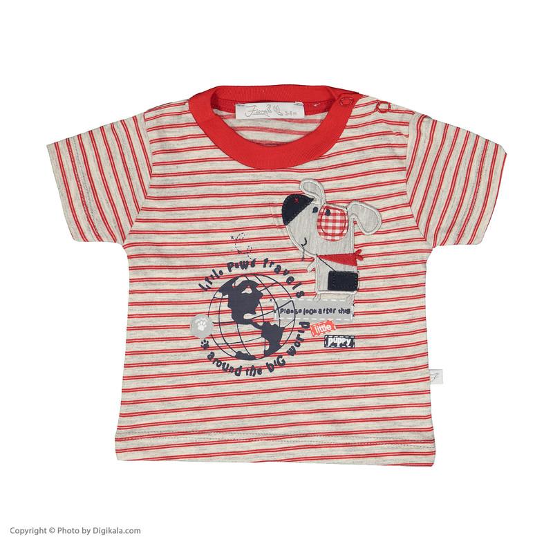 ست تی شرت و شلوارک راحتی نوزادی پسرانه فیورلا مدل 2091127-72