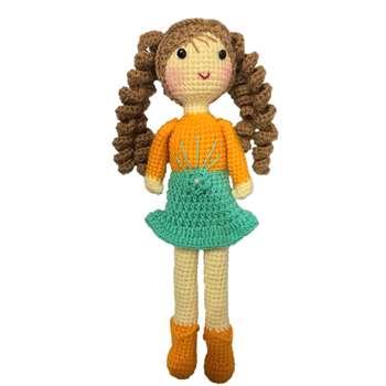 عروسک بافتنی مدل دختر کد 03