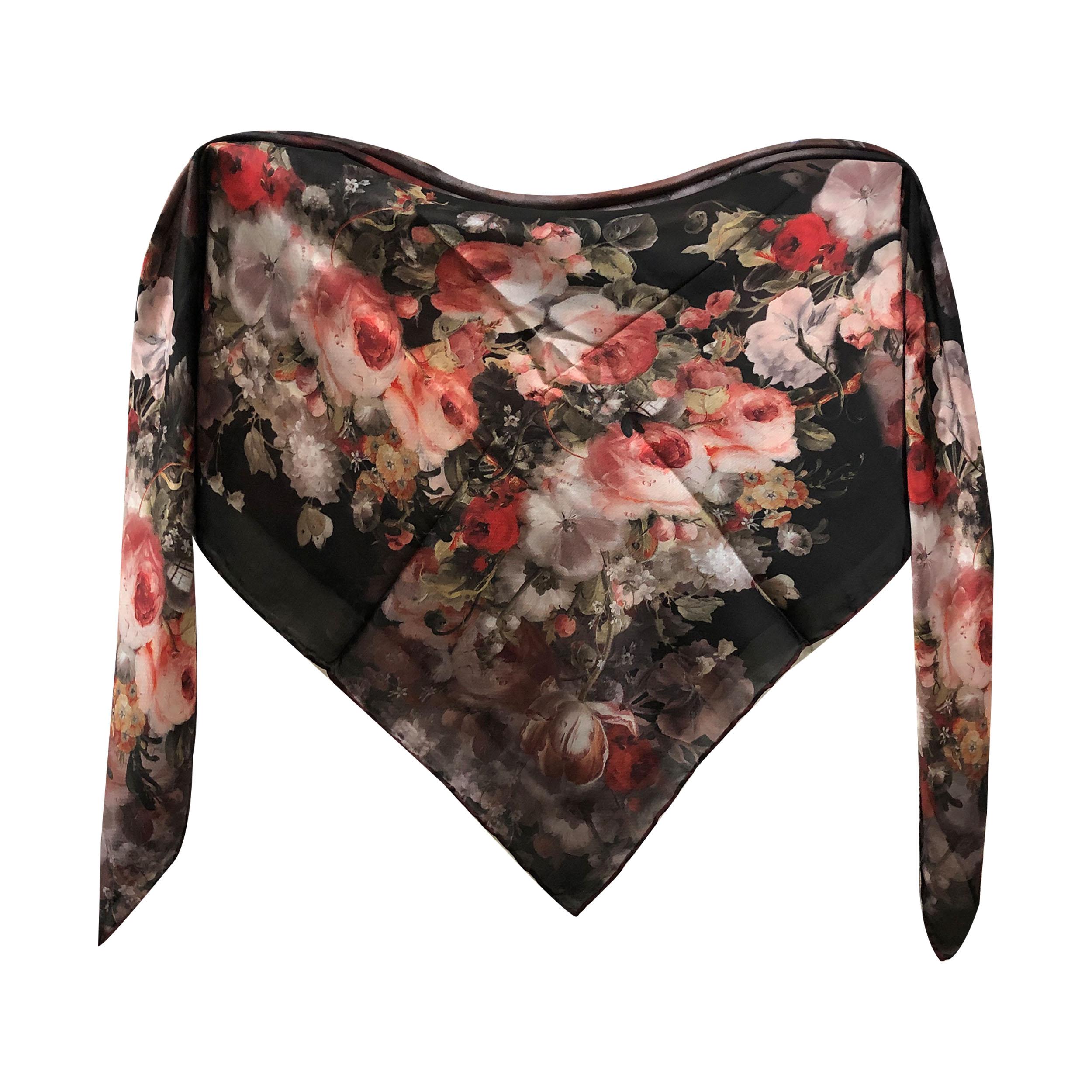 خرید                       روسری زنانه طرح گل کد 274