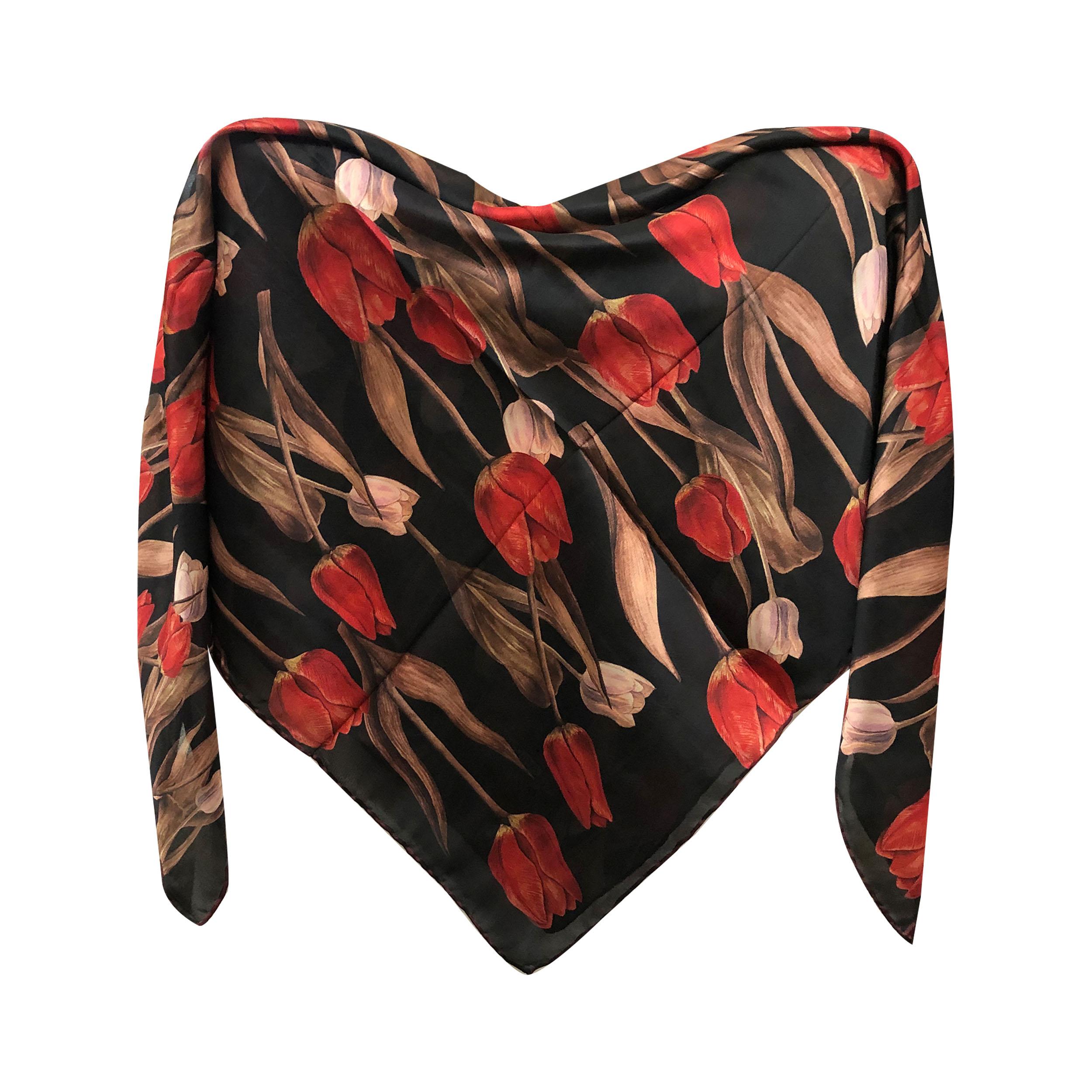 خرید                       روسری زنانه طرح لاله کد نارینا283