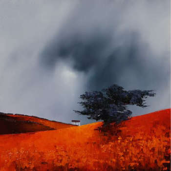 تابلو نقاشی رنگ روغن طرح مزرعه کد 006