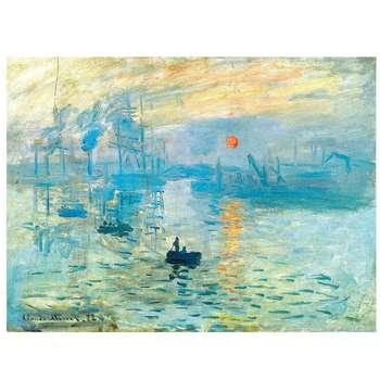 تابلو نقاشی رنگ روغن طرح طلوع خورشید کد 1001