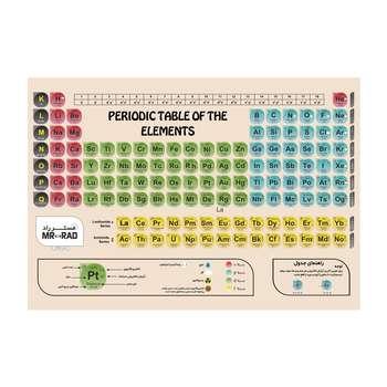 پوستر آموزشی مستر راد طرح جدول تناوبی مدل periodic 82688-08