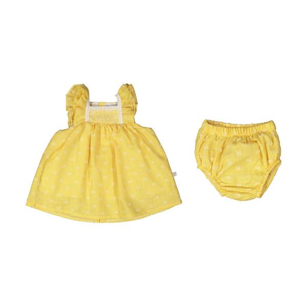 ست پیراهن و شورت نوزادی دخترانه فیورلا مدل 2091113-16