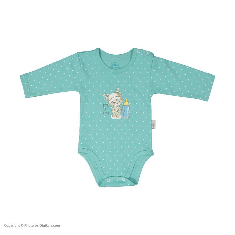 ست بادی و شلوار نوزادی دخترانه ان بی سی مدل 2071102-54