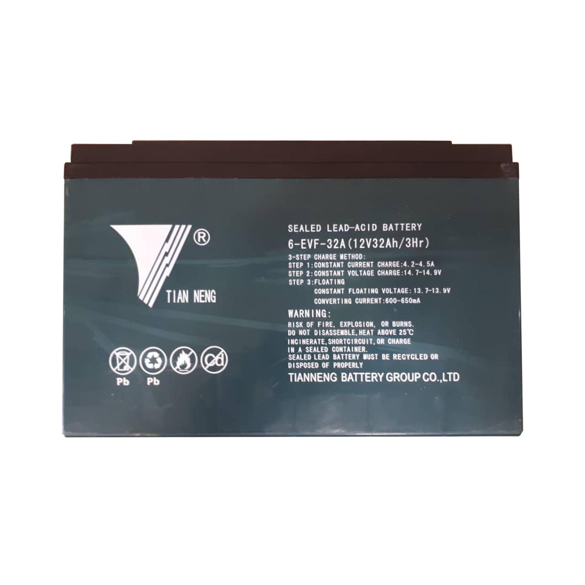 باتری موتور سیکلت تیانینگ مدل EVF32 بسته ۶عددی