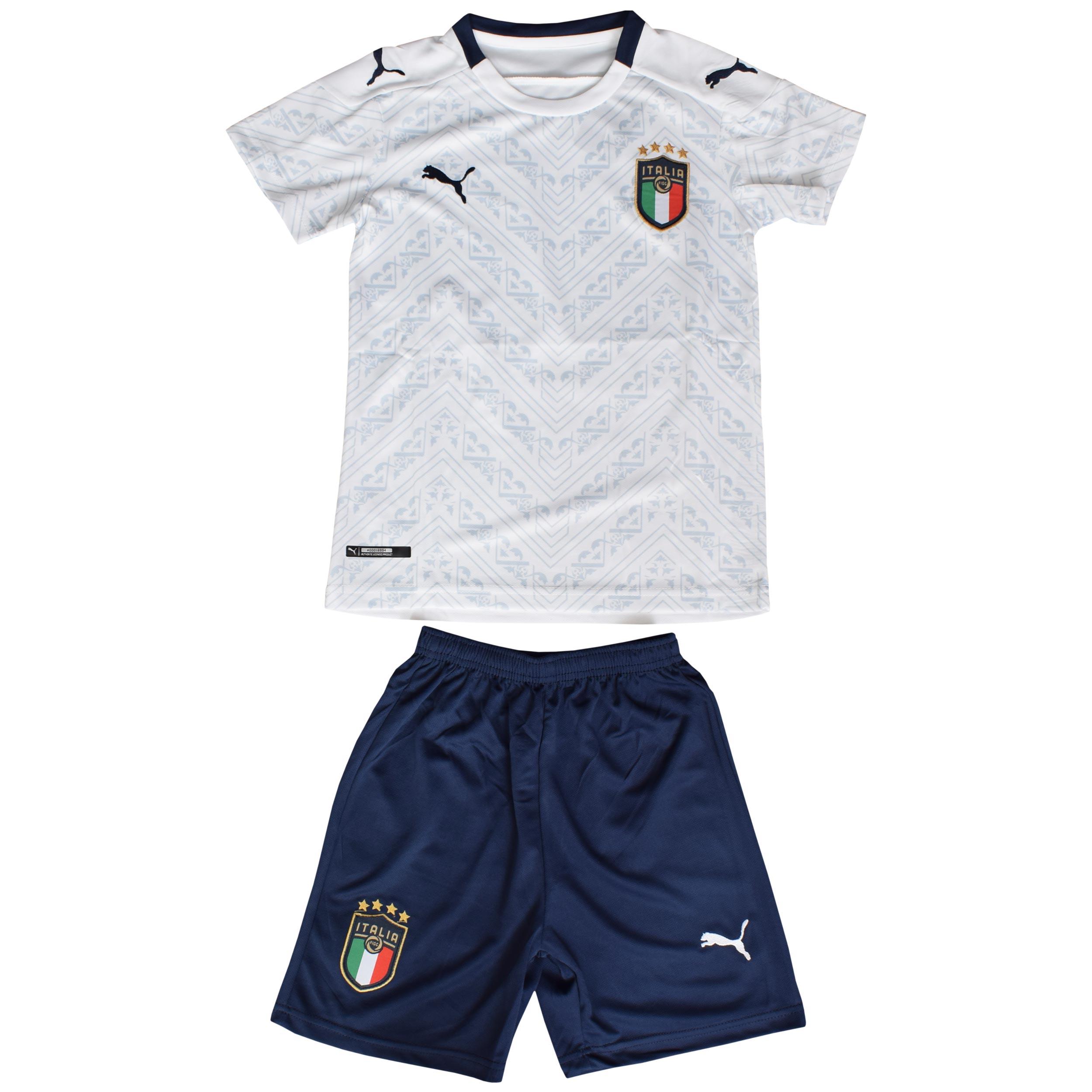 ست پیراهن و شلوارک ورزشی پسرانه طرح ایتالیا کد 1920 رنگ سفید
