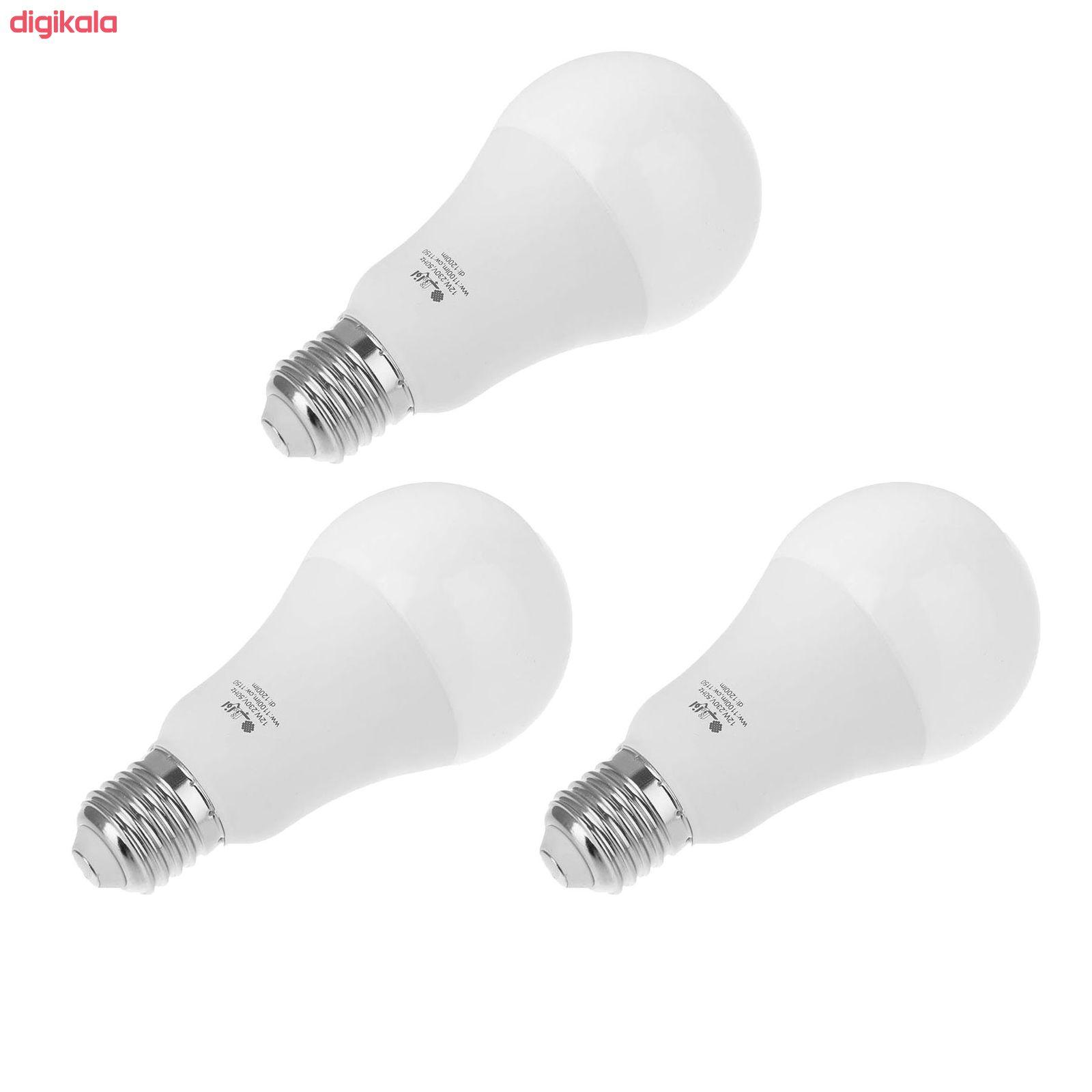 لامپ ال ای دی 12 وات افراتاب مدل AF-BULB-12W پایه E27 بسته 3 عددی main 1 1