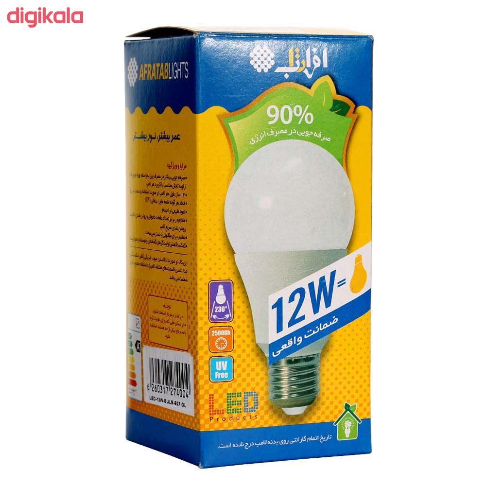 لامپ ال ای دی 12 وات افراتاب مدل AF-BULB-12W پایه E27 بسته 3 عددی main 1 5