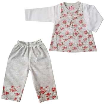 ست تی شرت و شلوار نوزادی مدل سارینا
