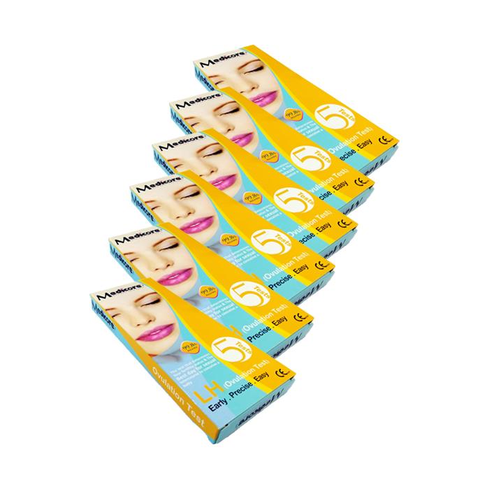 خرید                      تست تخمک گذاری مدیکور مدل LH مجموعه 6 عددی
