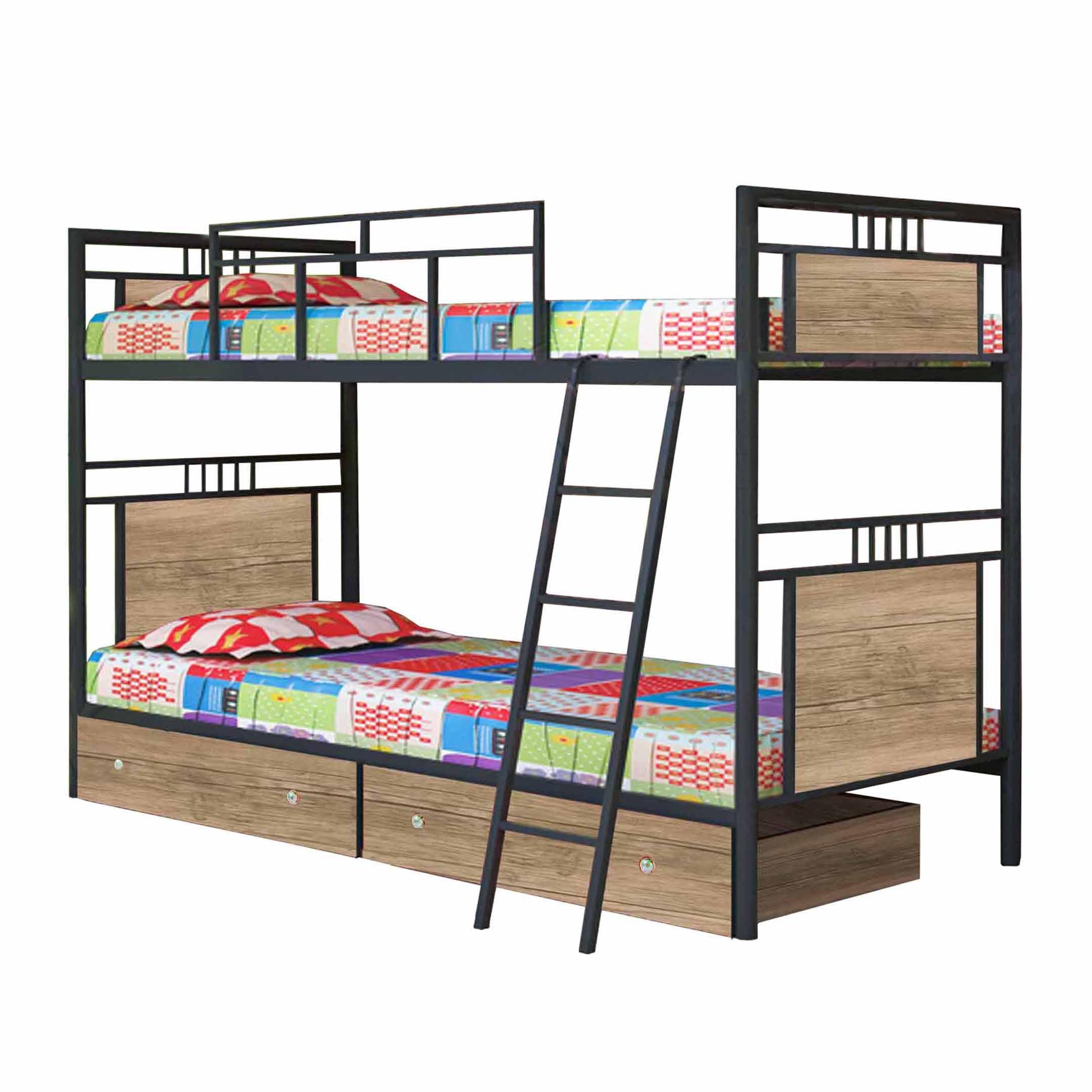 تخت خواب دو طبقه کد NA12 سایز ۹۰×۲۰۰ سانتیمتر