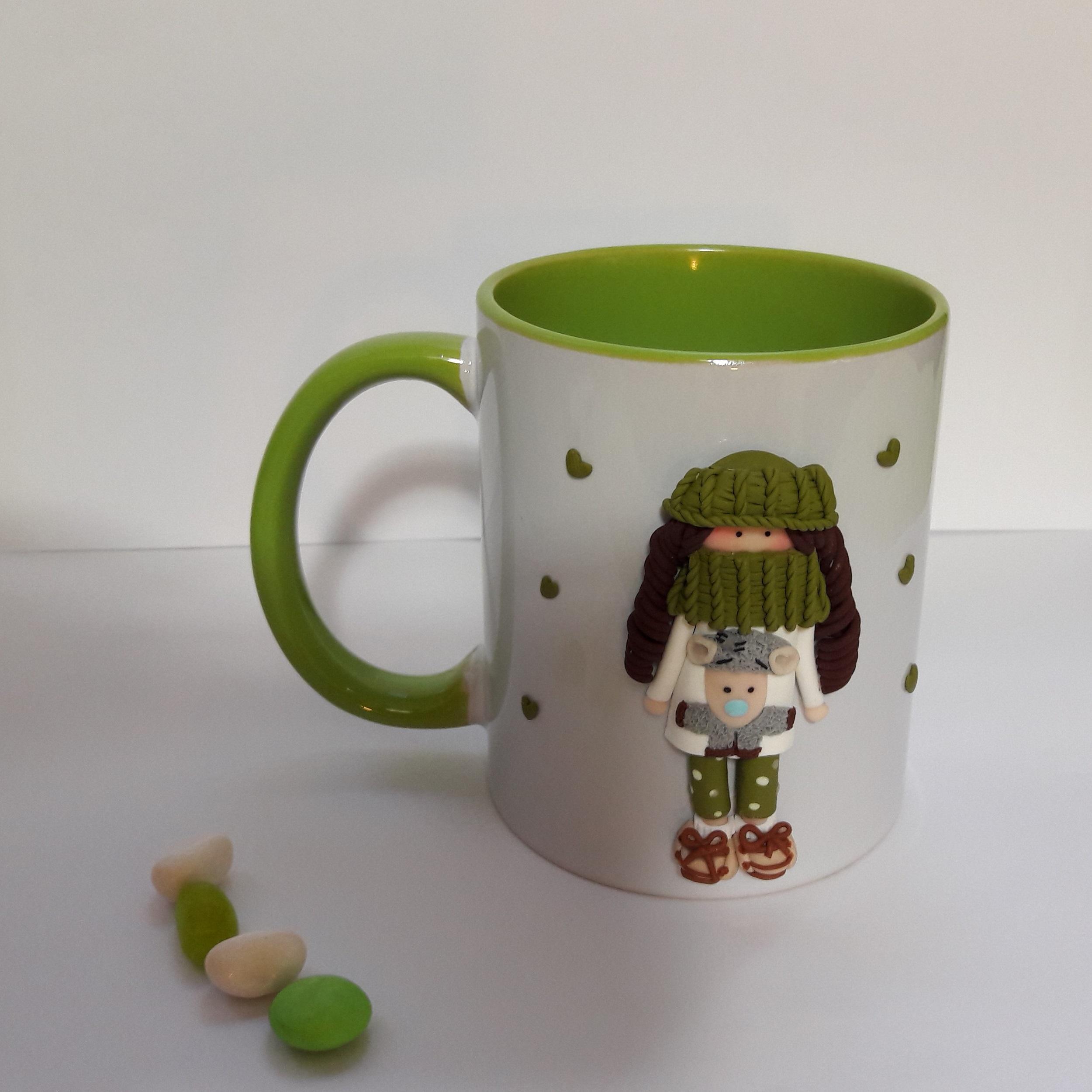 ماگ گالری سنجاق قفلی طرح دختر عروسکی مدل Fimo GHandak G39