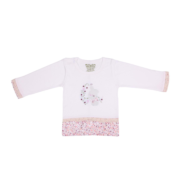 ست تی شرت و شلوار نوزادی دخترانه طرح خرگوش کد 39