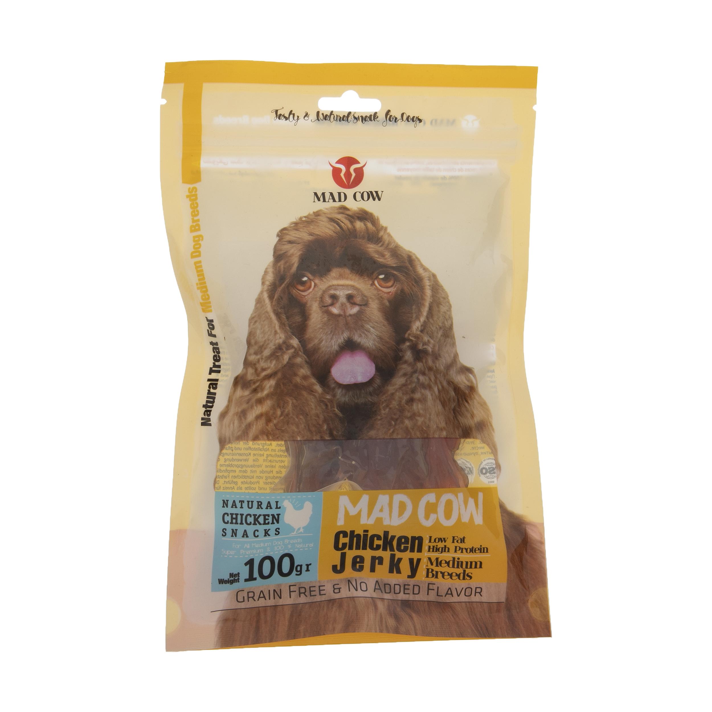 تشویقی سگ مدکاو مدل ChickenJerky کد 09 وزن 100 گرم