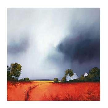 تابلو نقاشی رنگ روغن طرح مزرعه کد 101