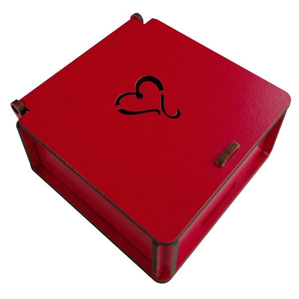 جعبه هدیه طرح قلب مدل jb01