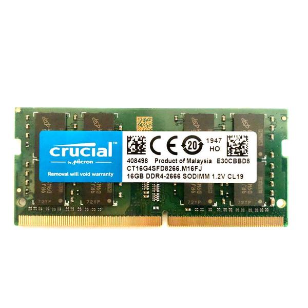 رم لپ تاپ DDR4 تک کاناله 2666 مگاهرتز CL19 کروشیال مدل SO_DIMM ظرفیت 16 گیگابایت