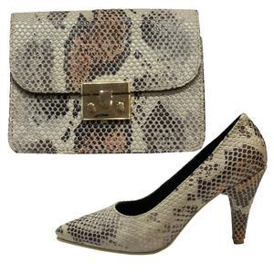 ست کیف و کفش زنانه طرح پوست ماری کد T01