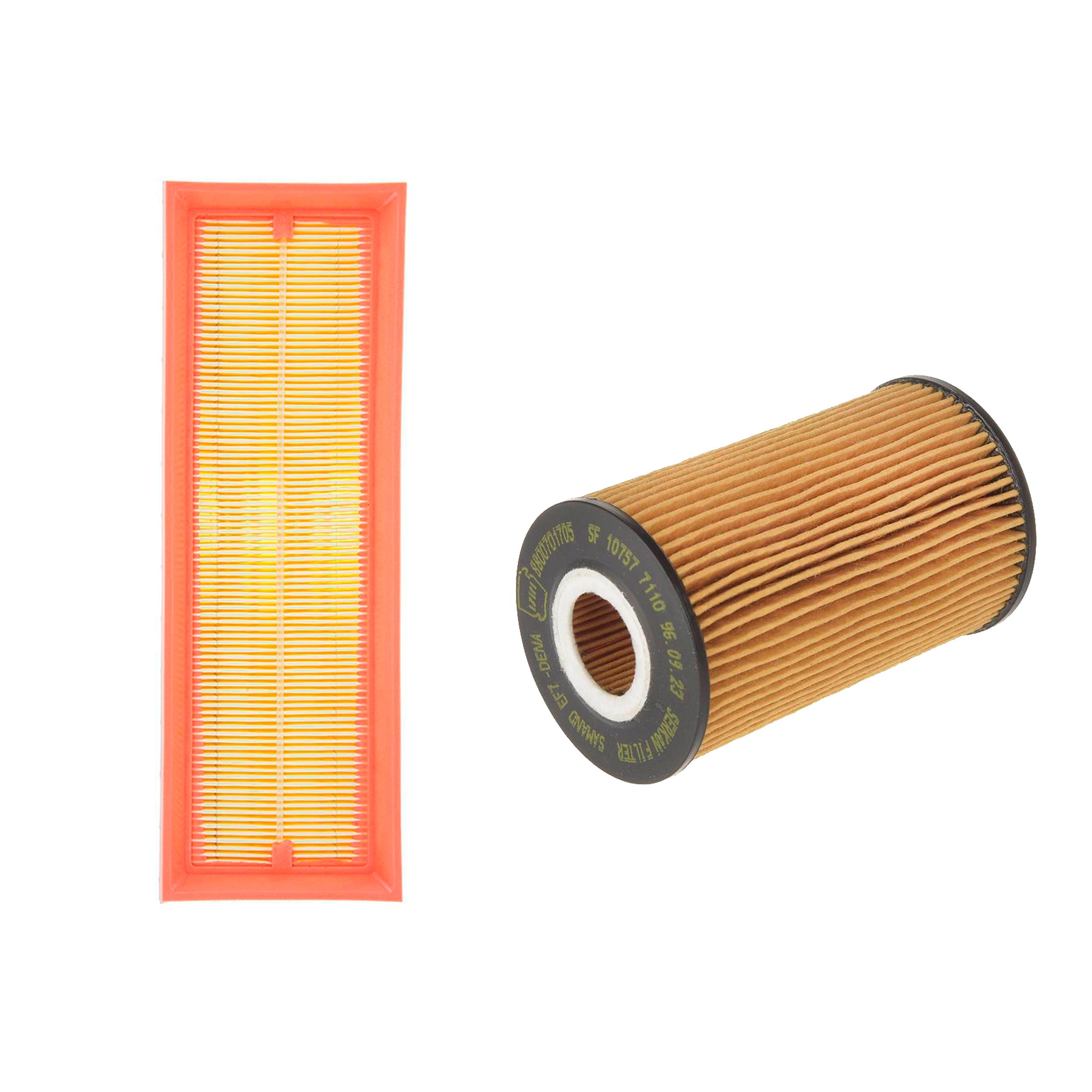 فیلتر روغن خودرو سرکان مدل SF7110 مناسب برای سمند ملی به همراه فیلتر هوا