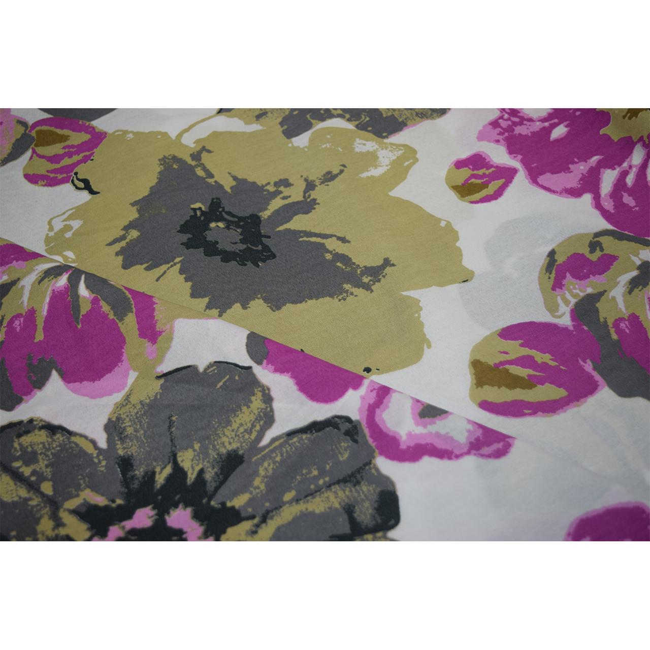 خرید                      پارچه ملحفه طرح گل کد p012