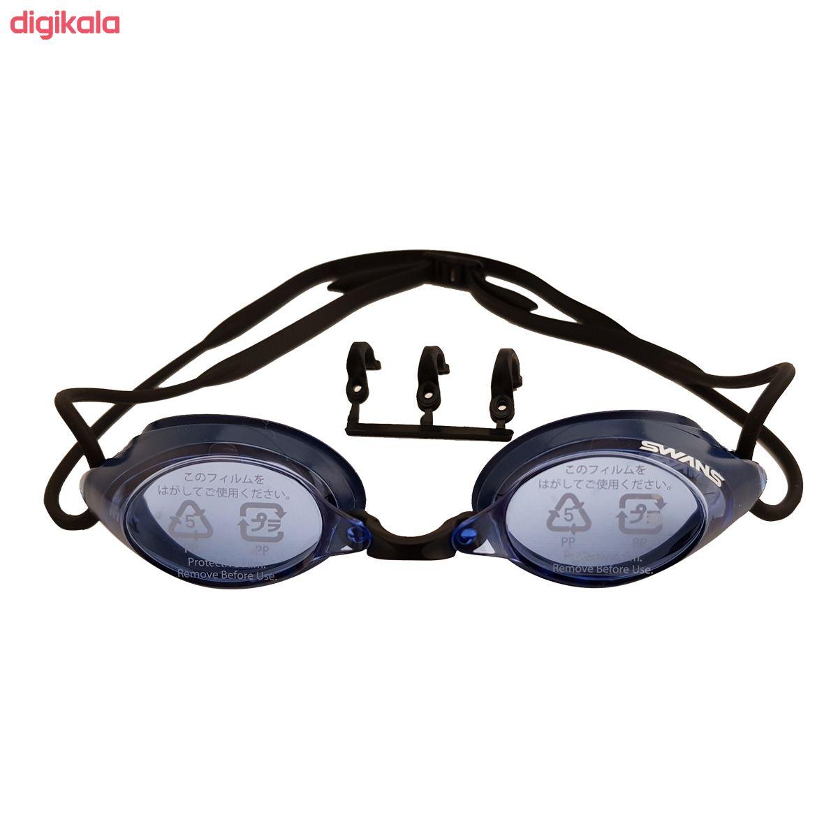 عینک شنا سوانز مدل SRX-N-BL main 1 1