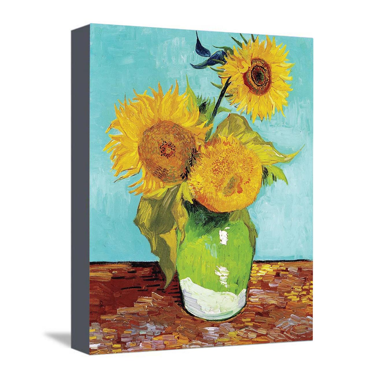 خرید                      تابلو نقاشی رنگ روغن طرح گل های افتابگردان ونگوگ کد 1044