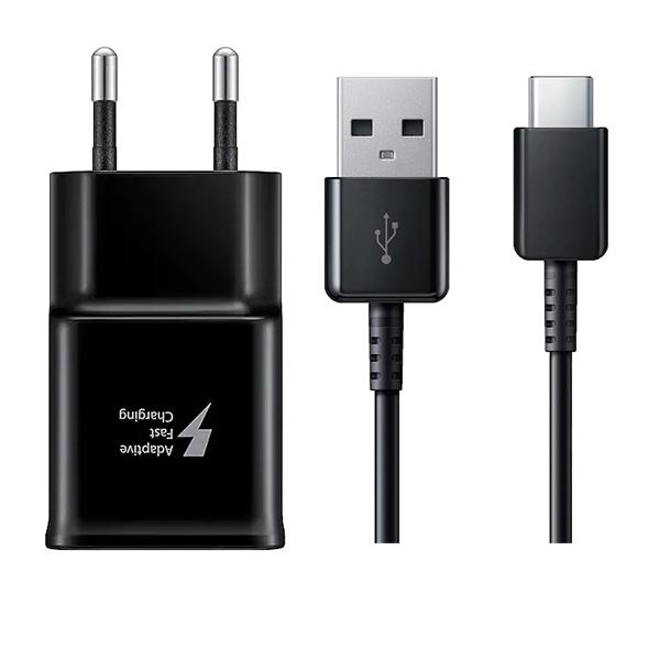 شارژر دیواری سامسونگ مدل EP-TA20EBE به همراه کابل تبدیل USB-C