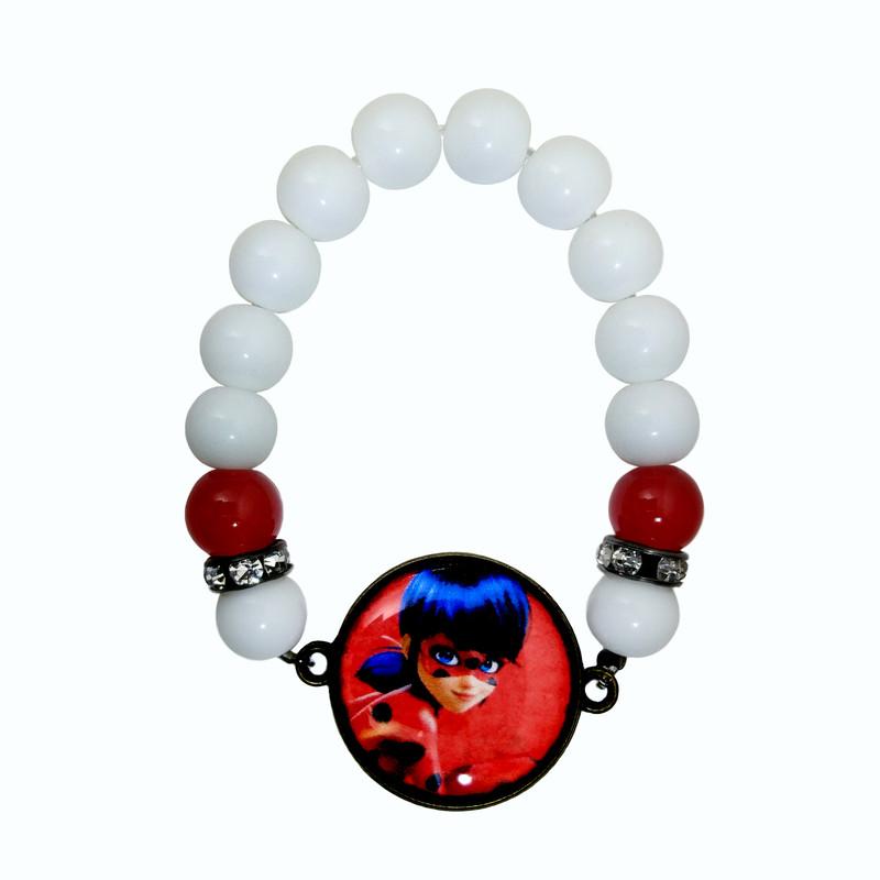 دستبند دخترانه طرح دختر کفشدوزکی کد 049