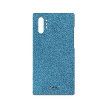 برچسب پوششی ماهوت مدل Blue-Leather مناسب برای گوشی موبایل سامسونگ Galaxy Note 10 Plus
