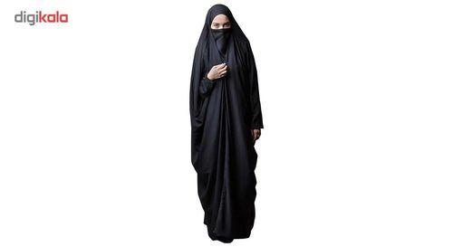 چادر لبنانی کرپ حریر اسود حجاب فاطمی مدل 201051hr