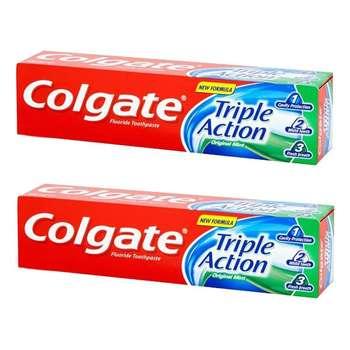 خمیر دندان کلگیت سری original mint مدل triple action حجم 50 میلی لیتر مجموعه 2 عددی