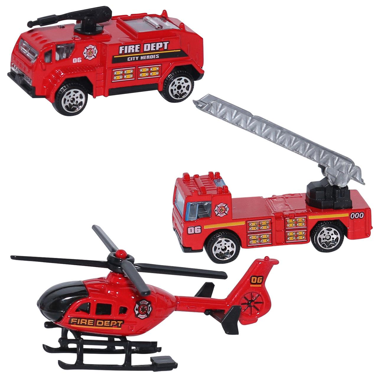 ماشین بازی طرح آتش نشانی بسته 3 عددی