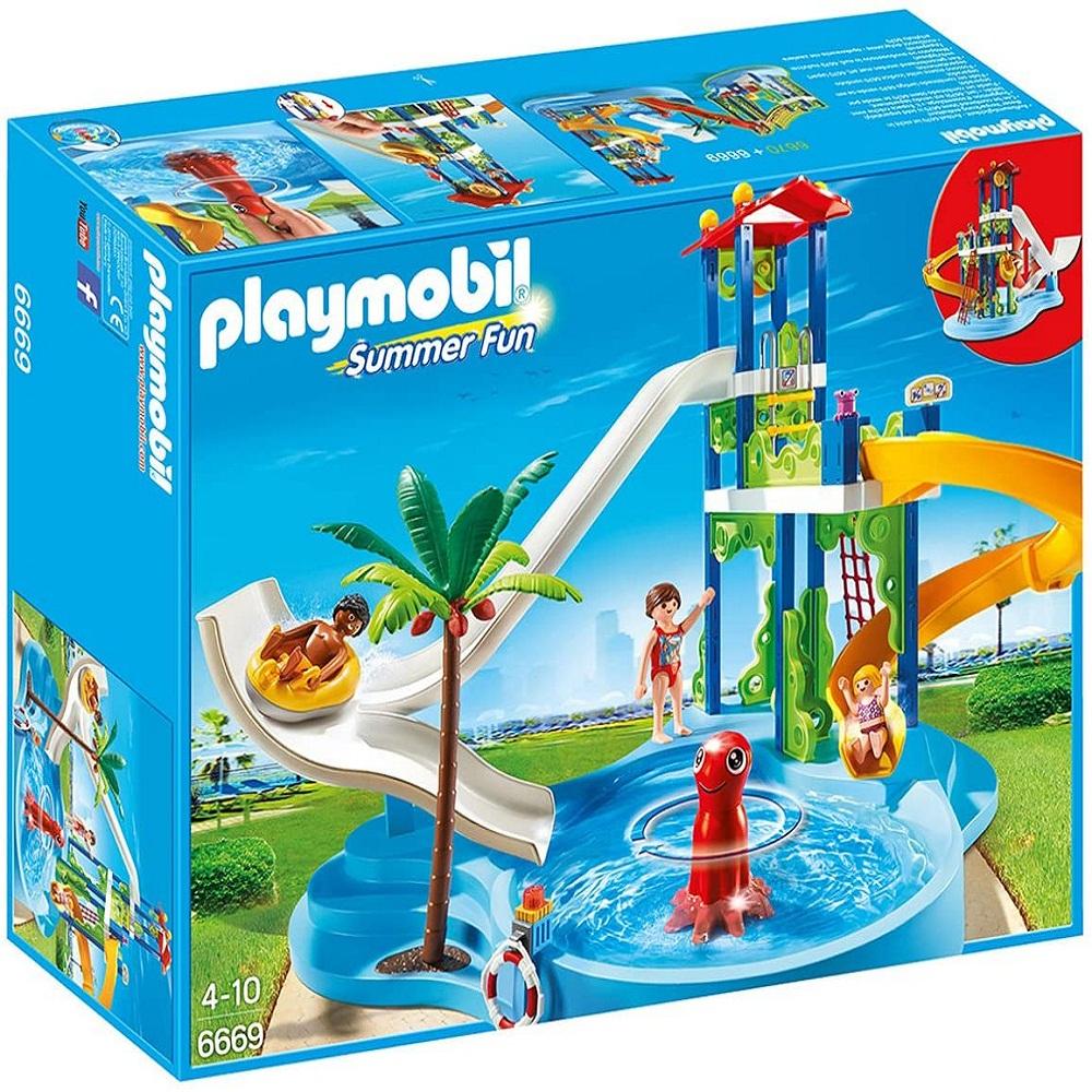 ساختنی پلی موبیل مدل 6669 Water Park with Slides
