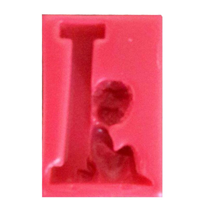 قالب فوندانت طرح حروف انگلیسی و فرشته حرف I کد 32557