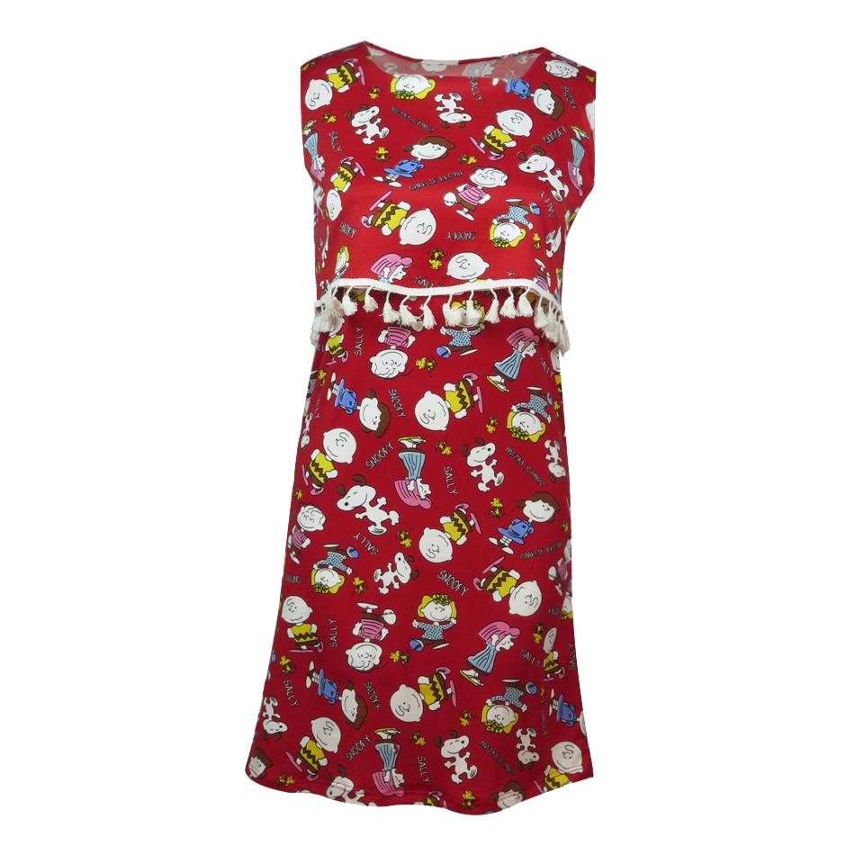 پیراهن زنانه کد brfp-203 رنگ قرمز