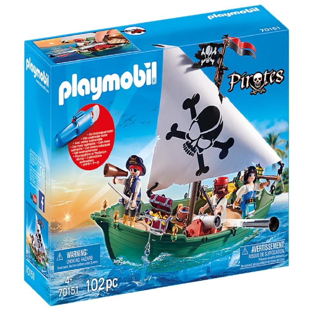 ساختنی پلی موبیل مدل 70151 Pirate Ship and Motor Playset