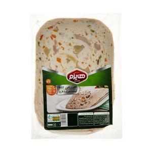 کالباس 55 درصد گوشت مرغ و قارچ هایزم وزن 250 گرم