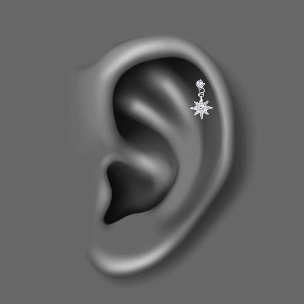 پیرسینگ گوش زنانه اقلیمه کد HS85