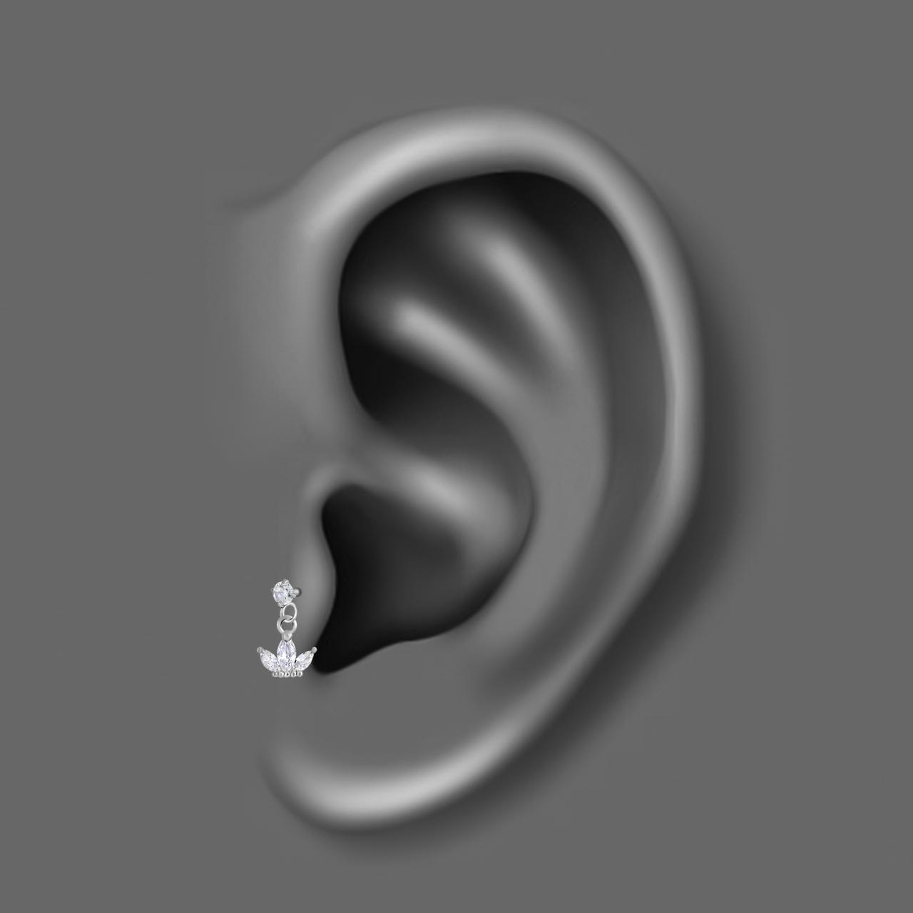 پیرسینگ گوش اقلیمه کد HS86