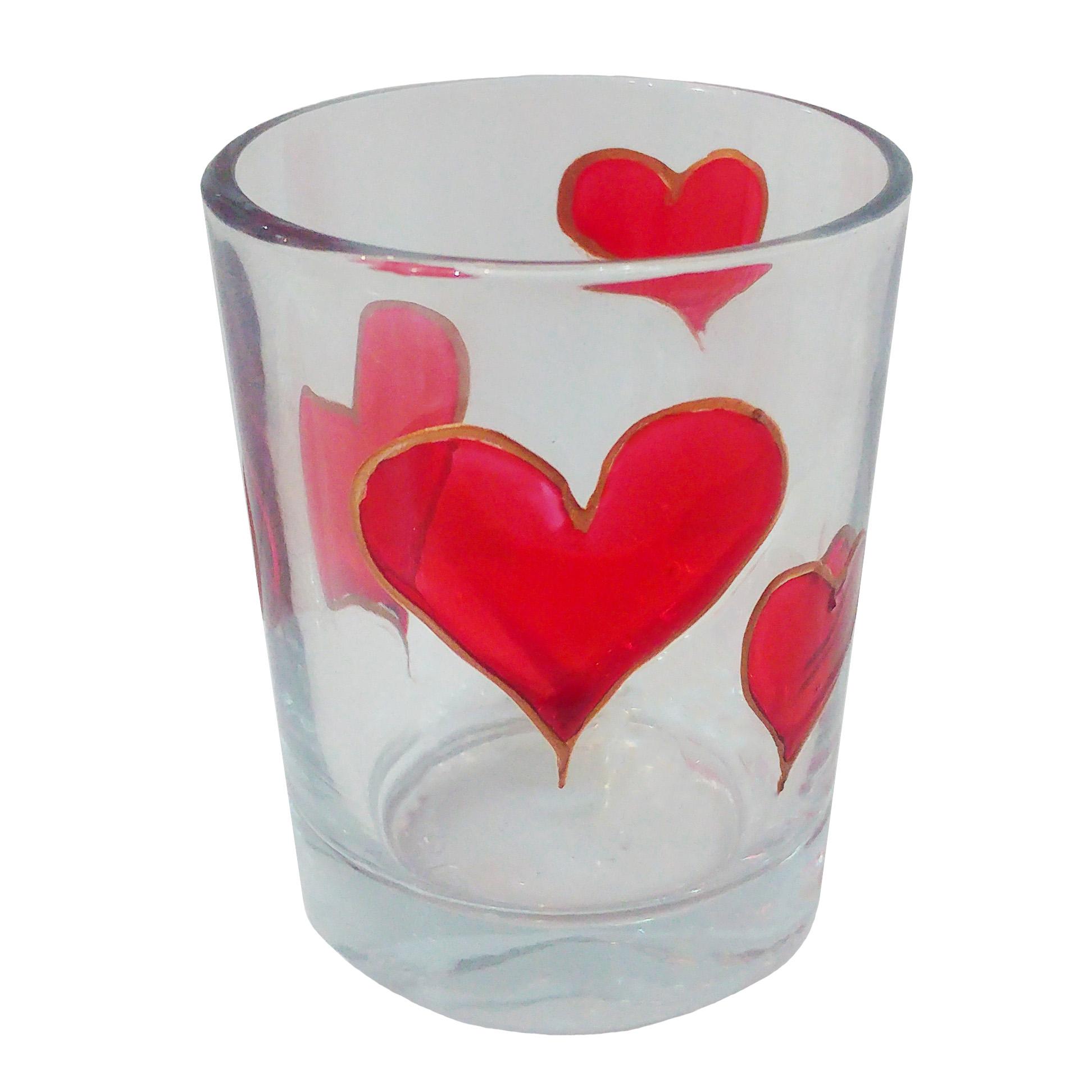 جاشمعی شیشه ای طرح قلب کد 03