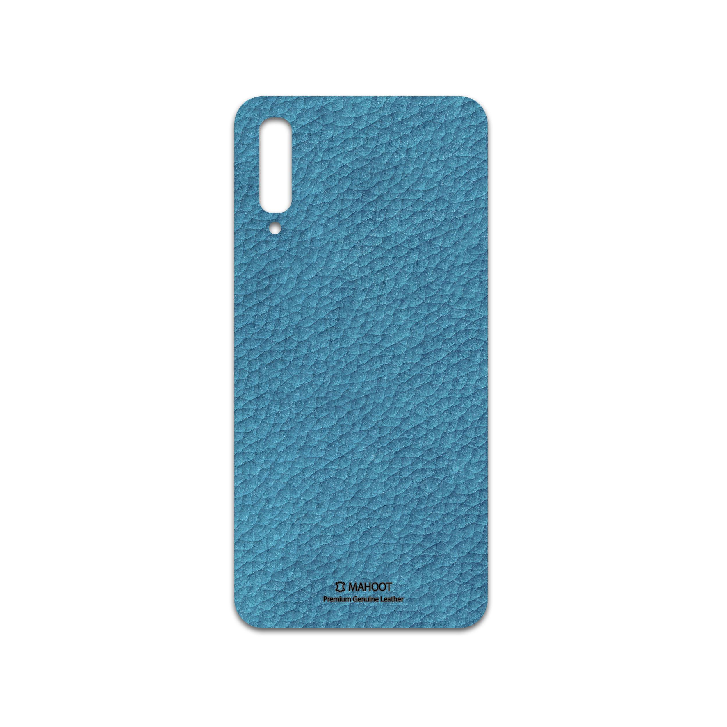 برچسب پوششی ماهوت مدل Blue-Leather مناسب برای گوشی موبایل سامسونگ Galaxy A50