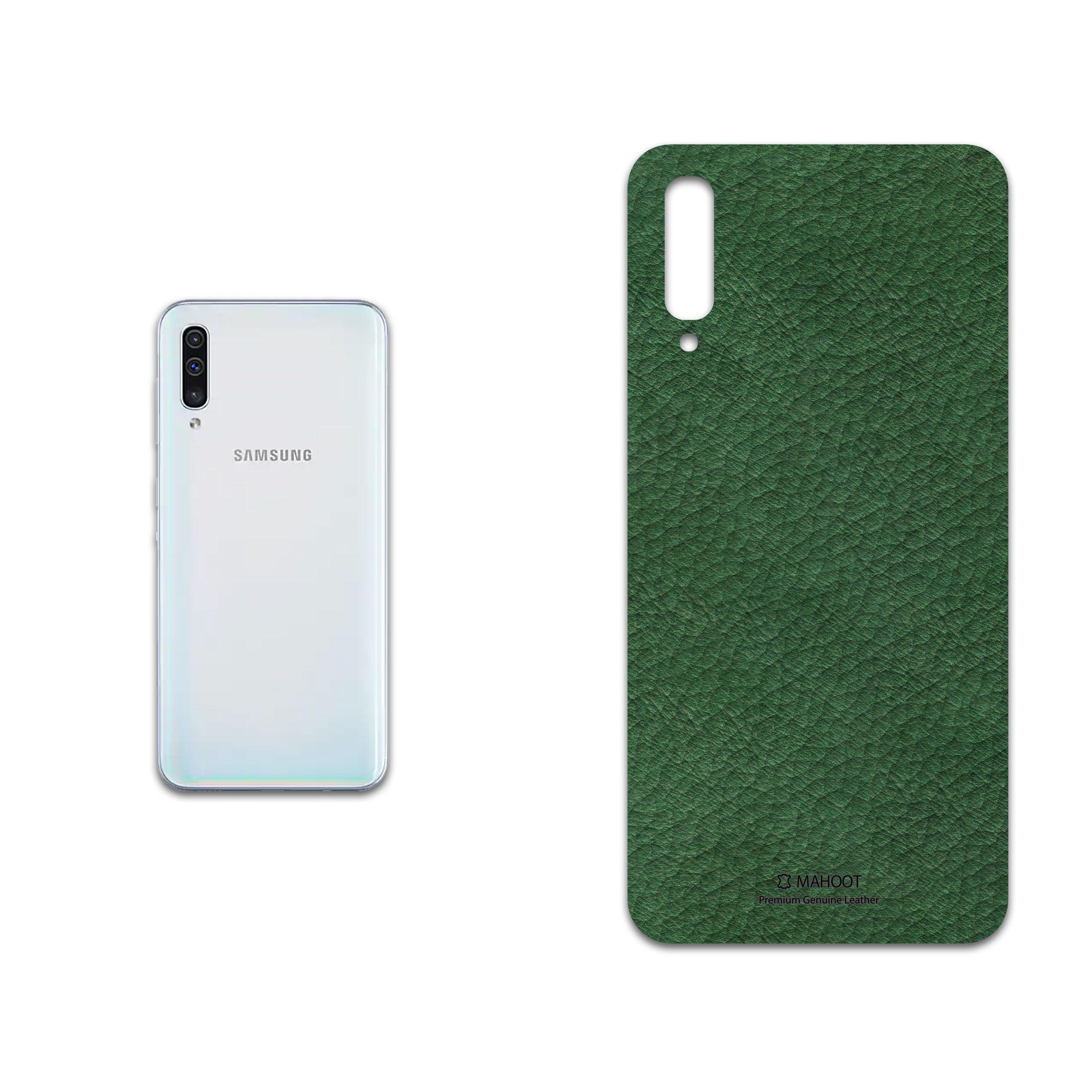 برچسب پوششی ماهوت مدل Green-Leather مناسب برای گوشی موبایل سامسونگ Galaxy A50