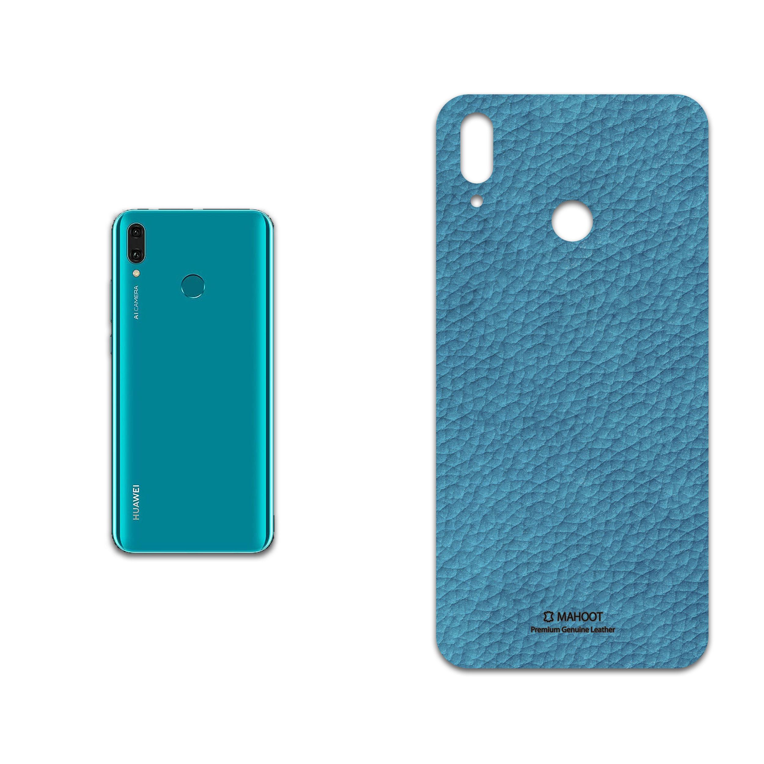 برچسب پوششی ماهوت مدل Blue-Leather مناسب برای گوشی موبایل هوآوی Y9 2019